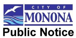 City of Monona Public Notice