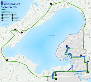 monona lift map