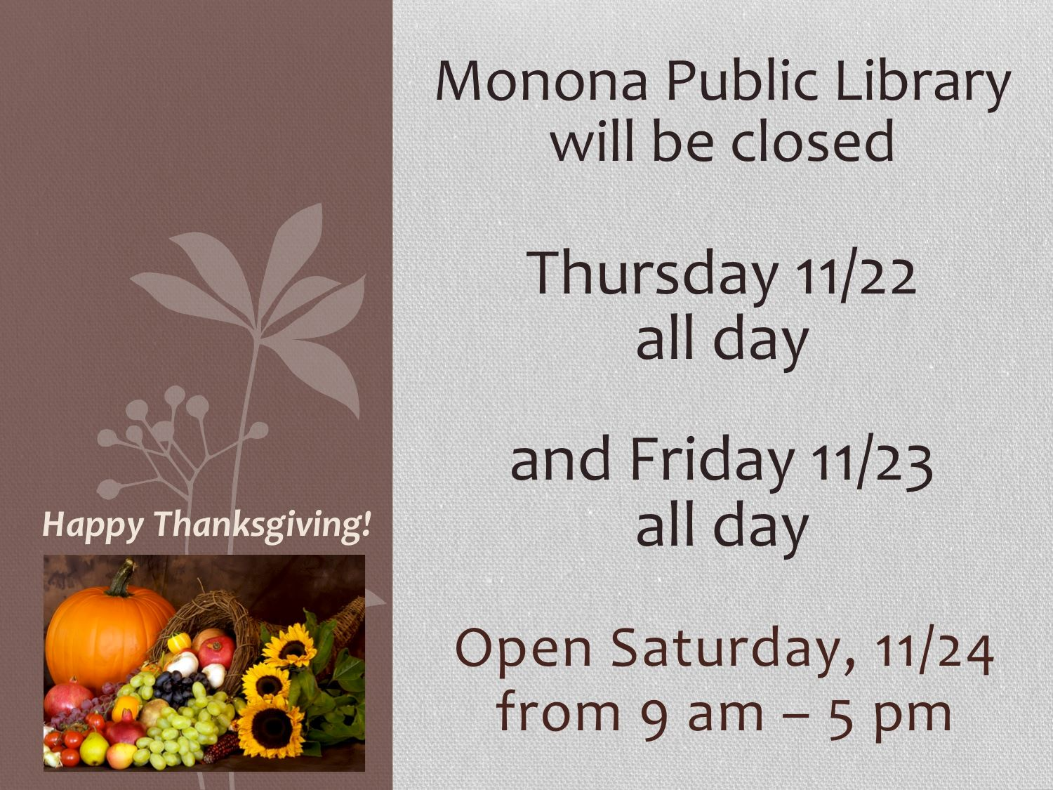 Thanksgiving closed slide_2018
