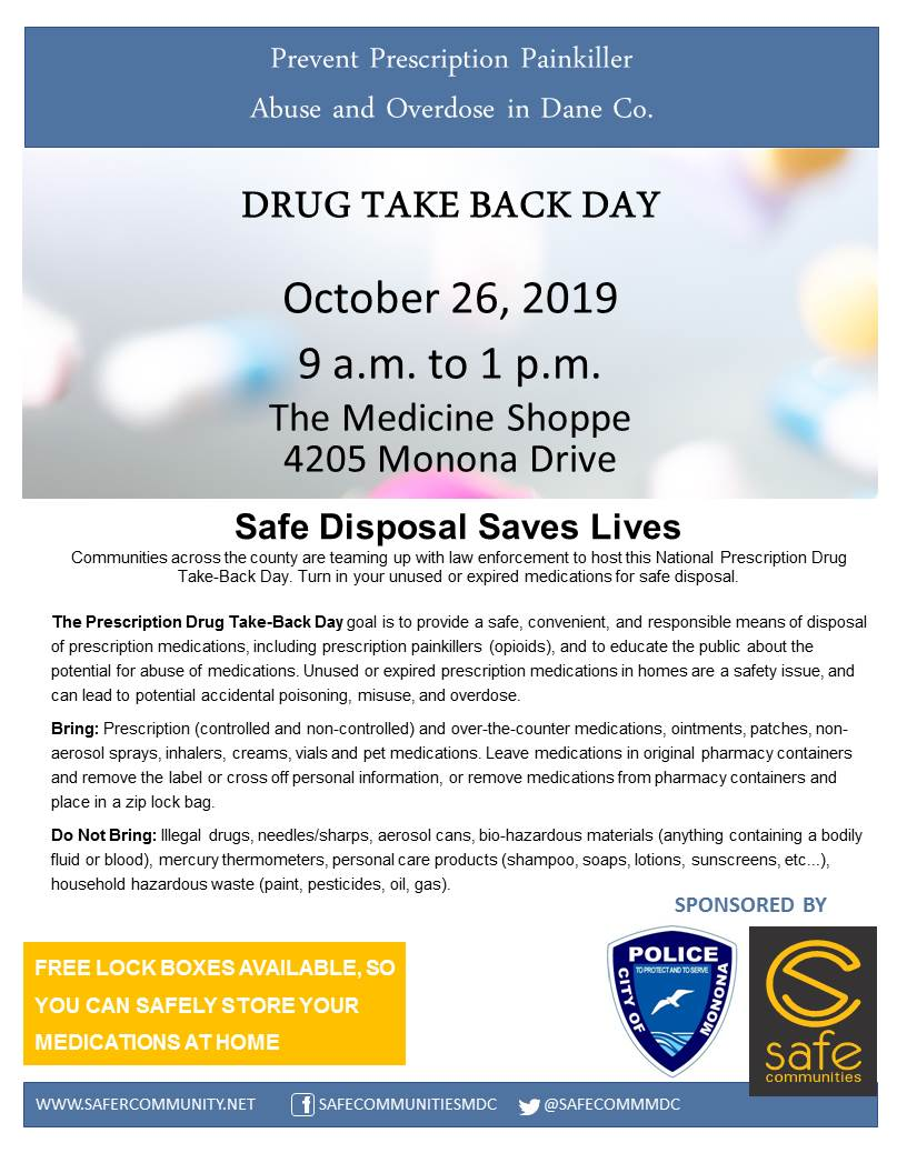 Drug Take Back Day Poster